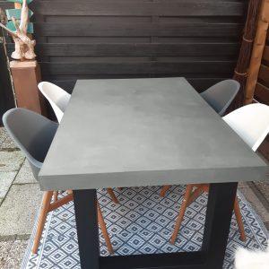 Betonlook eettafel grijs